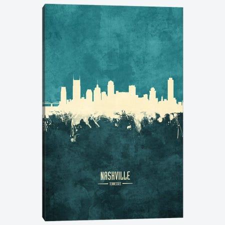 Nashville Tennessee Skyline Canvas Print #MTO1932} by Michael Tompsett Canvas Art