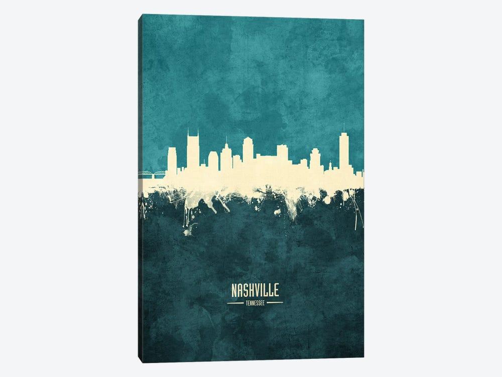 Nashville Tennessee Skyline by Michael Tompsett 1-piece Canvas Art