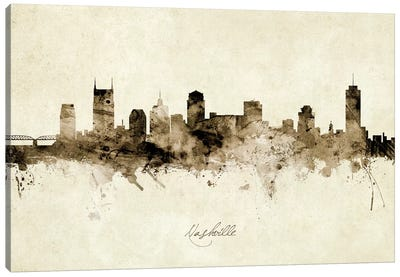 Nashville Tennessee Skyline Canvas Art Print