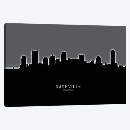Nashville Tennessee Skyline Canvas Print #MTO1934} by Michael Tompsett Art Print