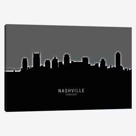 Nashville Tennessee Skyline Canvas Print #MTO1934} by Michael Tompsett Art Print