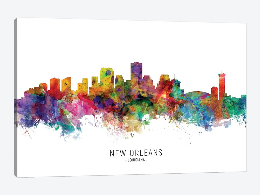 New Orleans Louisiana Skyline by Michael Tompsett 1-piece Canvas Art Print