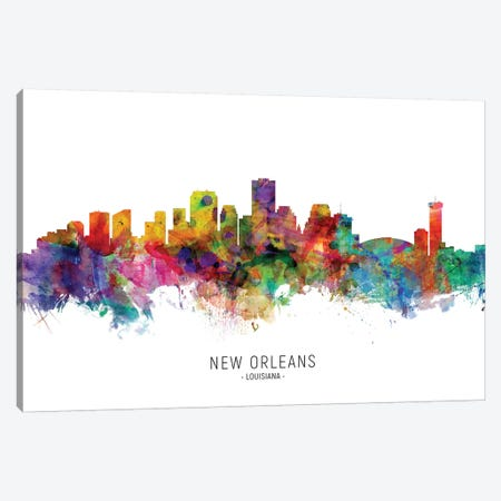 New Orleans Louisiana Skyline Canvas Print #MTO1935} by Michael Tompsett Canvas Art Print