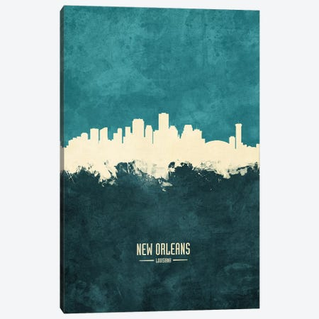 New Orleans Louisiana Skyline Canvas Print #MTO1936} by Michael Tompsett Canvas Art Print
