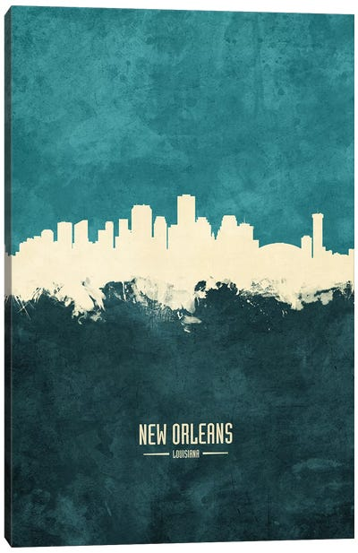 New Orleans Louisiana Skyline Canvas Art Print
