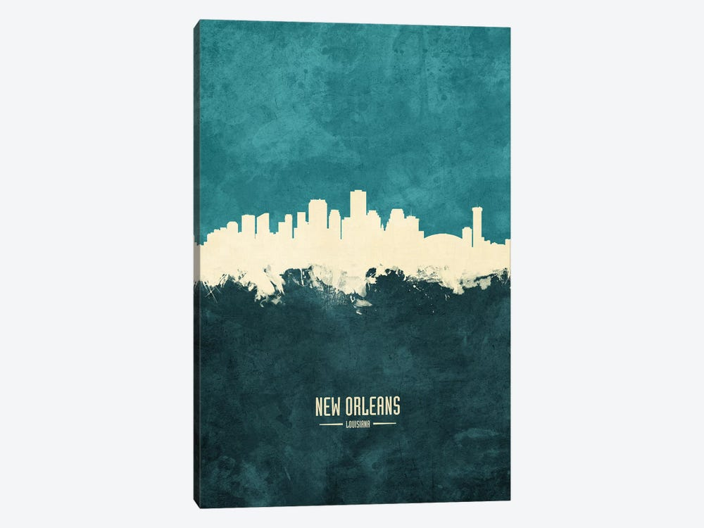 New Orleans Louisiana Skyline by Michael Tompsett 1-piece Canvas Art