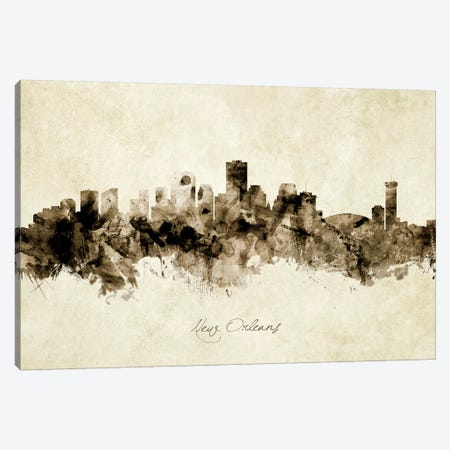 New Orleans Louisiana Skyline 3-Piece Canvas #MTO1937} by Michael Tompsett Canvas Print