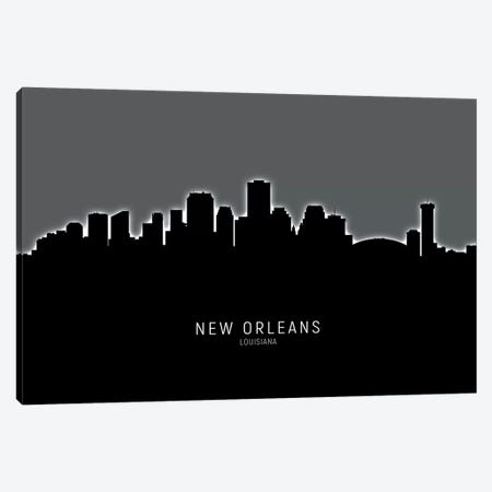 New Orleans Louisiana Skyline Canvas Print #MTO1938} by Michael Tompsett Canvas Artwork