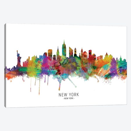 New York City Skyline Canvas Print #MTO1939} by Michael Tompsett Canvas Wall Art
