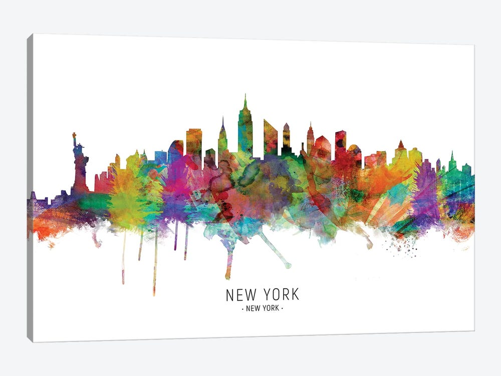 New York City Skyline by Michael Tompsett 1-piece Canvas Print