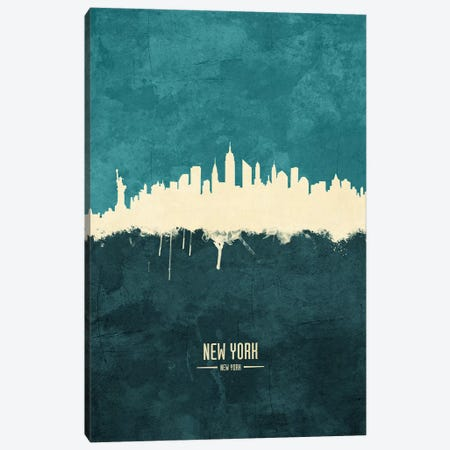 New York City Skyline Canvas Print #MTO1940} by Michael Tompsett Art Print