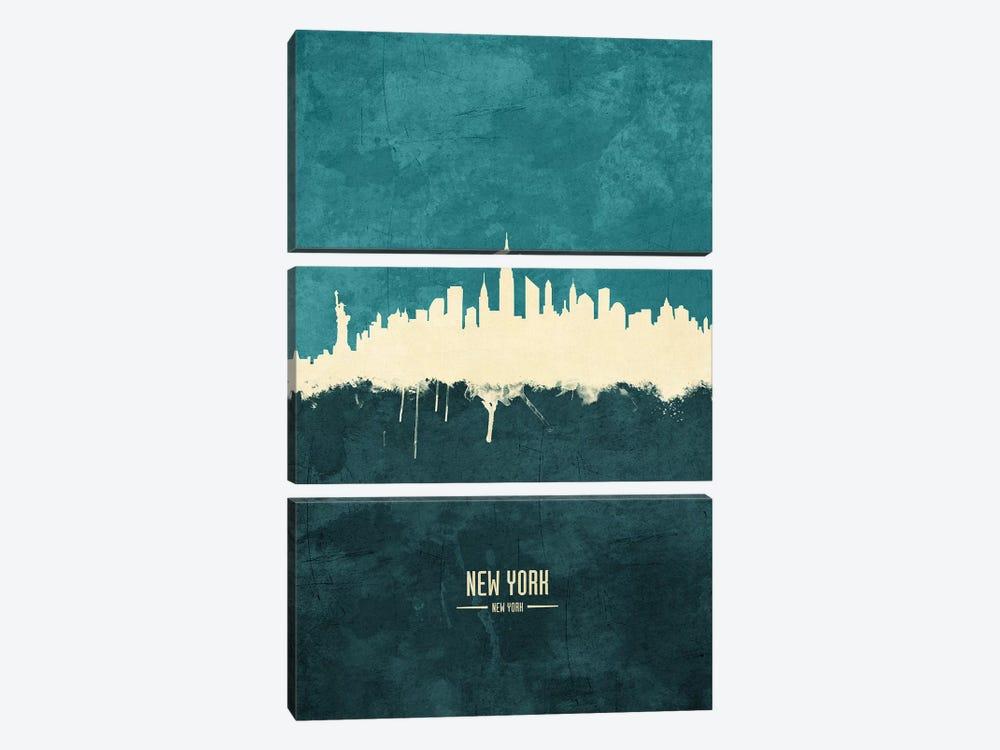 New York City Skyline by Michael Tompsett 3-piece Art Print