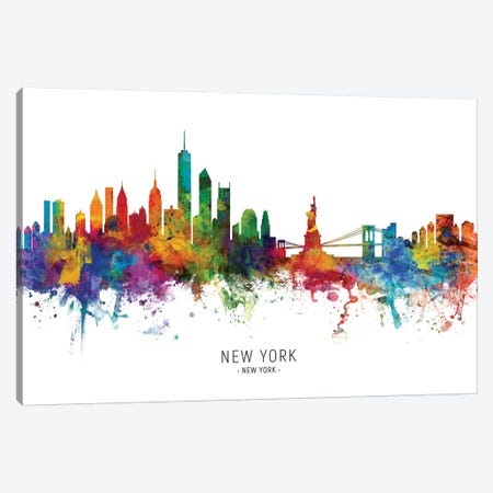 New York Skyline Canvas Print #MTO1941} by Michael Tompsett Art Print