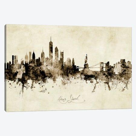 New York Skyline Canvas Print #MTO1942} by Michael Tompsett Art Print