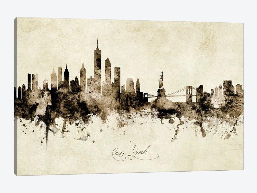 New York Skyline by Michael Tompsett 1-piece Art Print