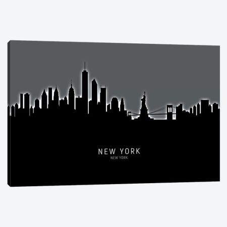 New York Skyline Canvas Print #MTO1943} by Michael Tompsett Canvas Print