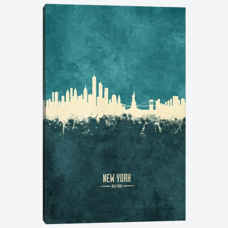 New York Skyline Canvas Print #MTO1944} by Michael Tompsett Canvas Artwork