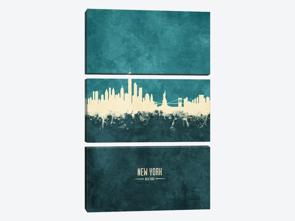 New York Skyline by Michael Tompsett 3-piece Canvas Print