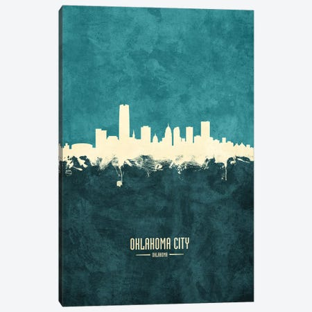 Oklahoma City Skyline Canvas Print #MTO1946} by Michael Tompsett Canvas Wall Art