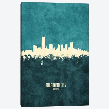 Oklahoma City Skyline Canvas Print #MTO1946} by Michael Tompsett Canvas Wall Art