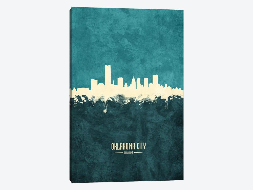 Oklahoma City Skyline by Michael Tompsett 1-piece Canvas Print
