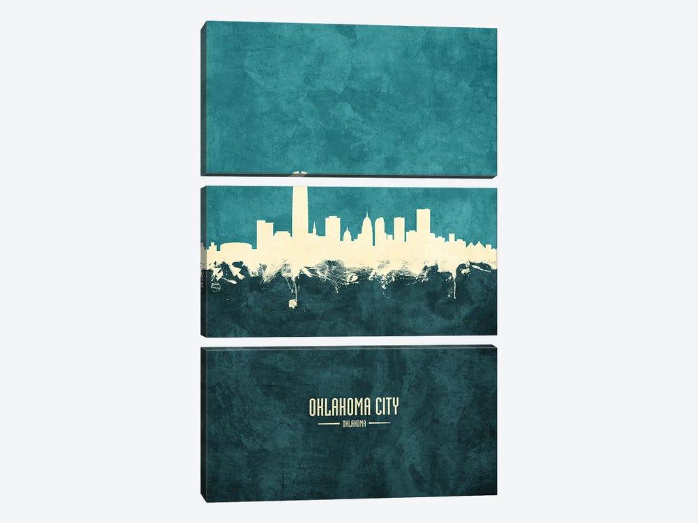 Oklahoma City Skyline by Michael Tompsett 3-piece Canvas Print