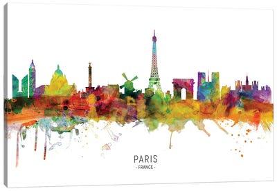 Paris France Skyline Canvas Art Print