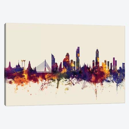 Bangkok, Thailand On Beige Canvas Print #MTO194} by Michael Tompsett Canvas Art