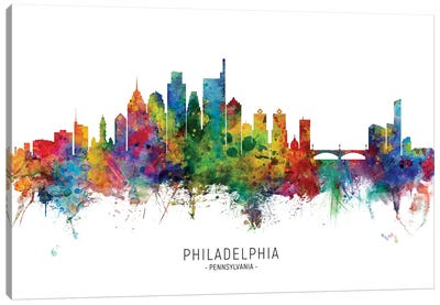 Philadelphia Pennsylvania Skyline Canvas Art Print