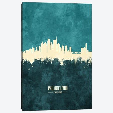 Philadelphia Pennsylvania Skyline Canvas Print #MTO1954} by Michael Tompsett Canvas Art Print