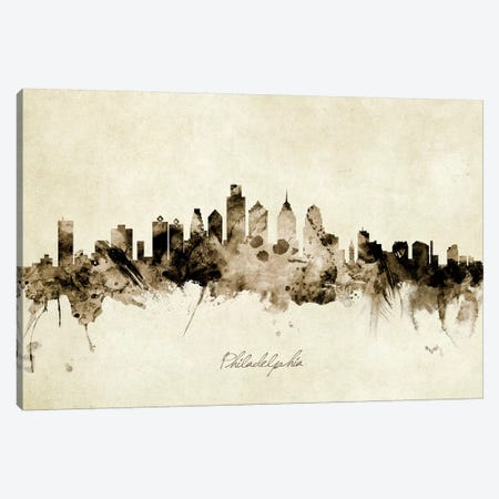 Philadelphia Pennsylvania Skyline Canvas Print #MTO1955} by Michael Tompsett Canvas Print