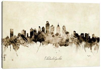 Philadelphia Pennsylvania Skyline Canvas Art Print