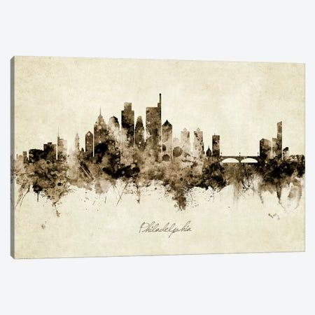 Philadelphia Pennsylvania Skyline 3-Piece Canvas #MTO1956} by Michael Tompsett Art Print