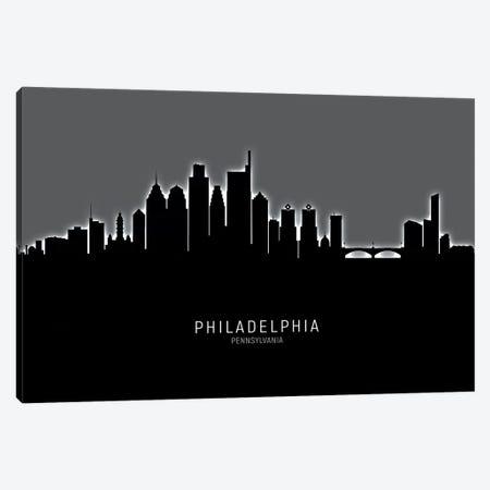 Philadelphia Pennsylvania Skyline Canvas Print #MTO1957} by Michael Tompsett Art Print