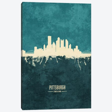 Pittsburgh Pennsylvania Skyline Canvas Print #MTO1958} by Michael Tompsett Canvas Wall Art