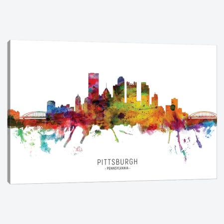 Pittsburgh Pennsylvania Skyline Canvas Print #MTO1959} by Michael Tompsett Canvas Art