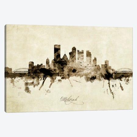 Pittsburgh Pennsylvania Skyline Canvas Print #MTO1960} by Michael Tompsett Canvas Art Print