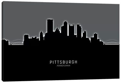 Pittsburgh Pennsylvania Skyline Canvas Art Print