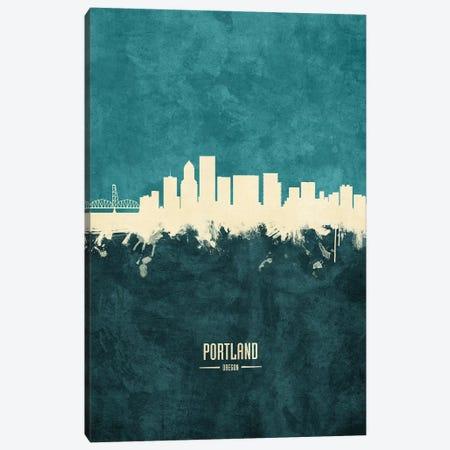 Portland Oregon Skyline Canvas Print #MTO1963} by Michael Tompsett Art Print
