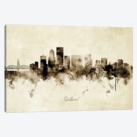 Portland Oregon Skyline Canvas Print #MTO1964} by Michael Tompsett Canvas Art