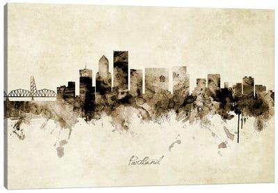 Portland Oregon Skyline Canvas Art Print