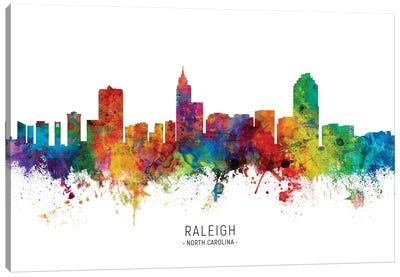 Raleigh North Carolina Skyline Canvas Art Print