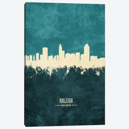 Raleigh North Carolina Skyline Canvas Print #MTO1967} by Michael Tompsett Canvas Artwork