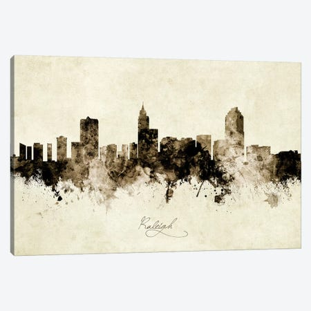 Raleigh North Carolina Skyline Canvas Print #MTO1968} by Michael Tompsett Art Print