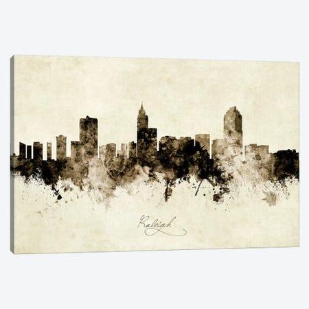 Raleigh North Carolina Skyline 3-Piece Canvas #MTO1968} by Michael Tompsett Art Print