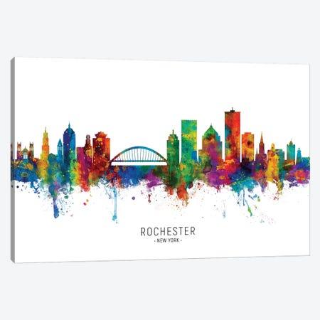 Rochester New York Skyline Canvas Print #MTO1970} by Michael Tompsett Canvas Wall Art