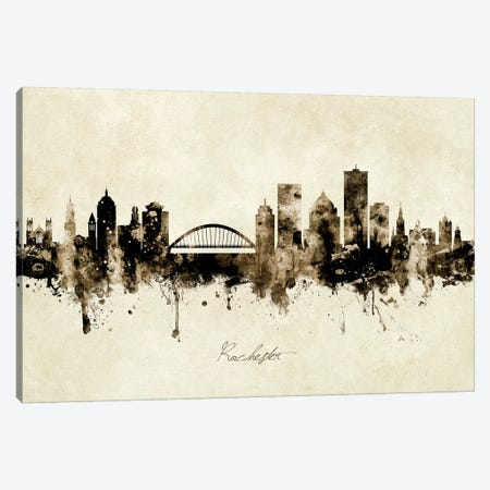 Rochester New York Skyline Canvas Print #MTO1972} by Michael Tompsett Canvas Artwork