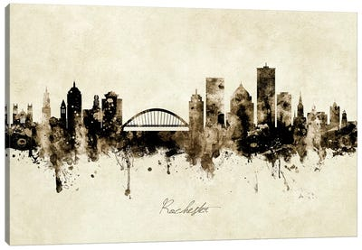 Rochester New York Skyline Canvas Art Print