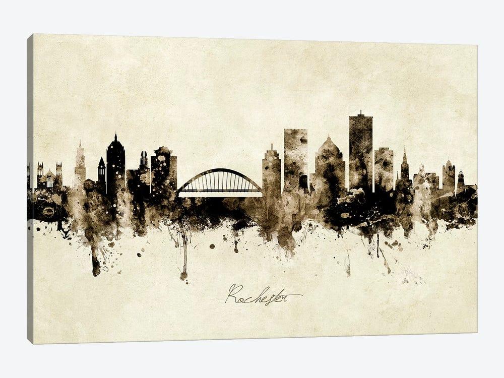 Rochester New York Skyline by Michael Tompsett 1-piece Canvas Art