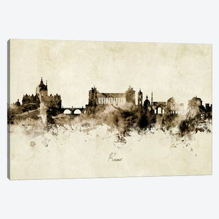 Rome Italy Skyline 3-Piece Canvas #MTO1975} by Michael Tompsett Canvas Print